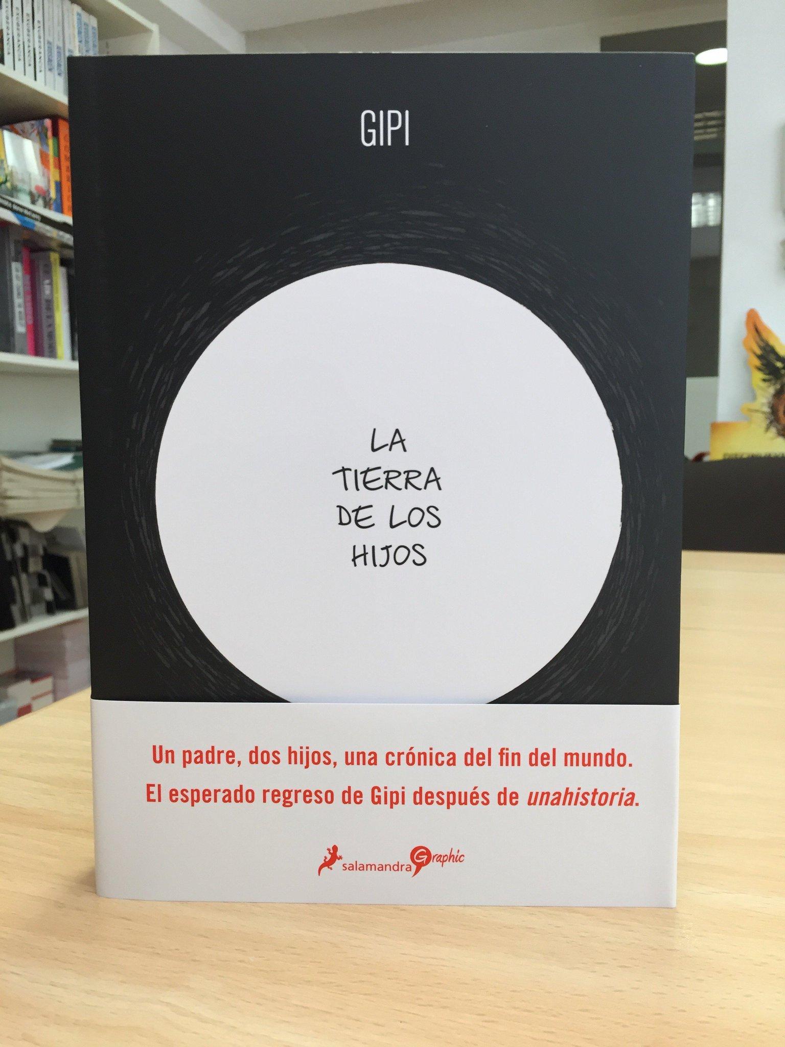 """Acaba de llegar, recién salida de imprenta, """"La tierra de los hijos"""", la premiada e internacionalmente aclamada nueva obra de Gipi. A la venta el próximo jueves 5 de abril. https://t.co/w43Y4CYw3v"""
