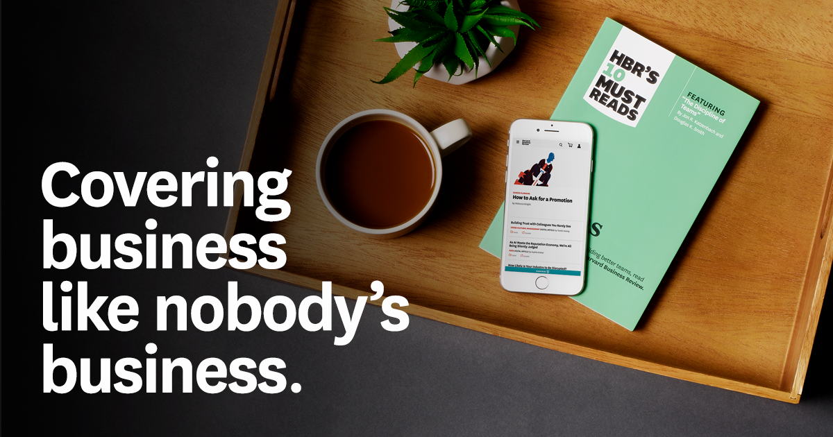 Unlock unlimited access to the latest in career & business - subscribe to HBR today. https://t.co/wiLKrM1tXd https://t.co/k2Suea9UMC