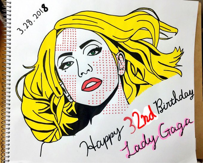 Lady Gaga Happy 32nd Birthday      (   )