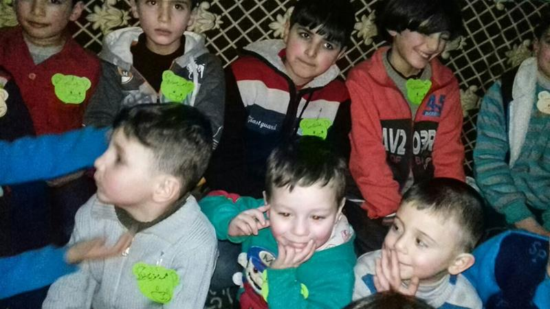 Basement schools aid children in Syria's Eastern Ghouta