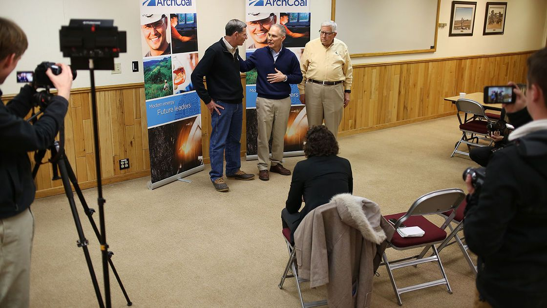EPA head Scott Pruitt visits major Wyoming coal mine, preaches end of 'war on fossil fuels'