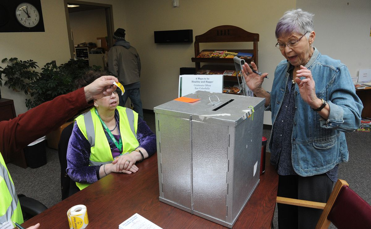 For longtime voters in Anchorage's first mail election, some unease with change