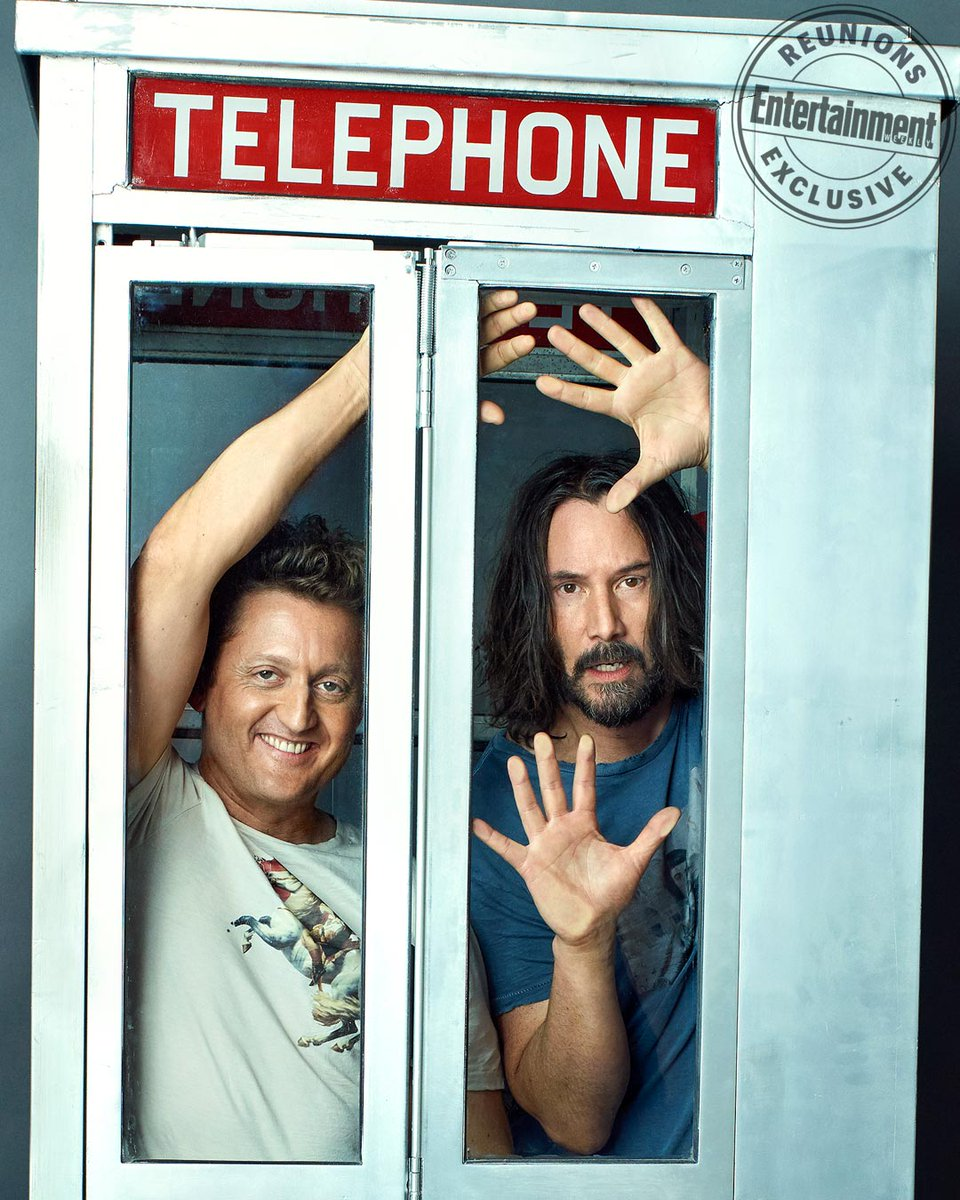No way! Keanu Reeves and @alxwinter discuss the possibility of another BillAndTed sequel: