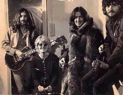 George Harrison and  Eric Clapton,  with Delaney & Bonnie. 1969.  Happy birthday to .  March  30th 1945