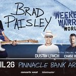 BRAD PAISLEY With Special Guests Dustin Lynch, Chase Bryant, Lindsay Ell