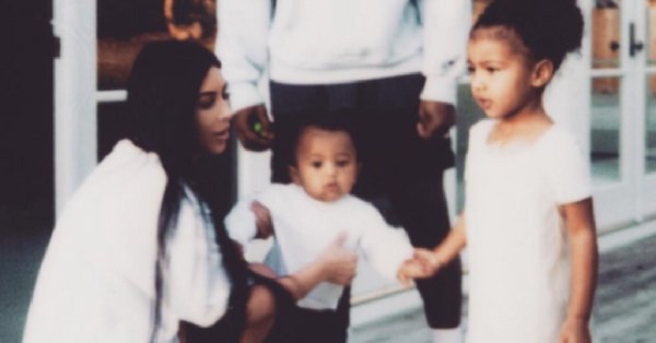 Kim Kardashian's little boy is such a Saint and the photo she just uploaded proves it: