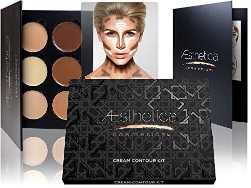 #body Aesthetica Cosmetics Cream Contour and Highlighting Makeup Kit - Conto...