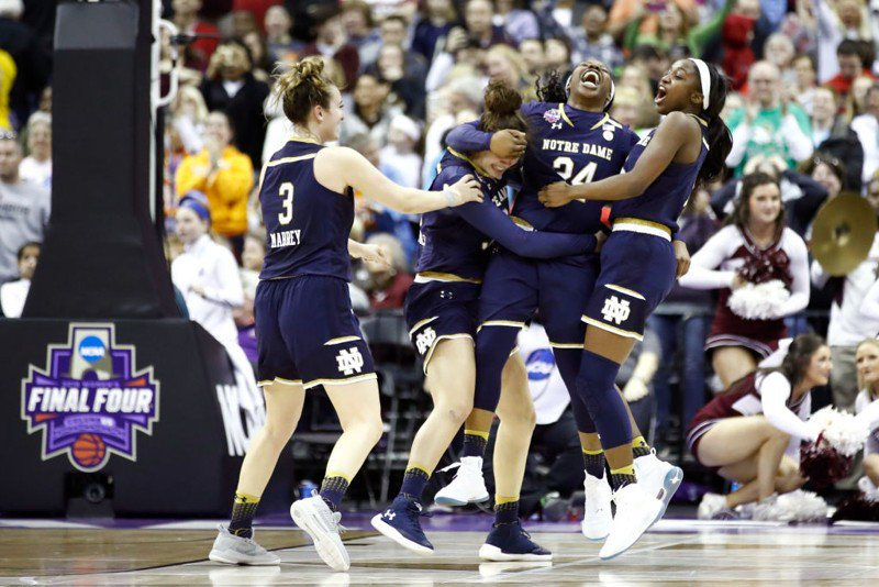 Notre Dame beats Mississippi State to win women's basketball championship