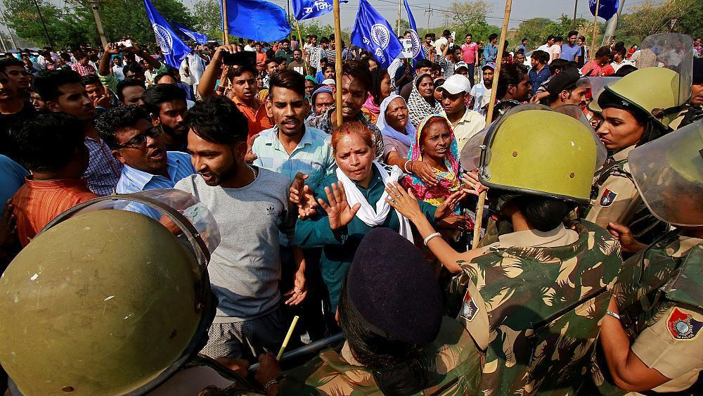 Violence erupts in India as lowest caste protests Supreme Court order