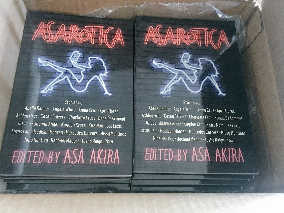 2 pic. Sending out an order of #ASAROTICA to a sex worker book club makes me feel like all is right in