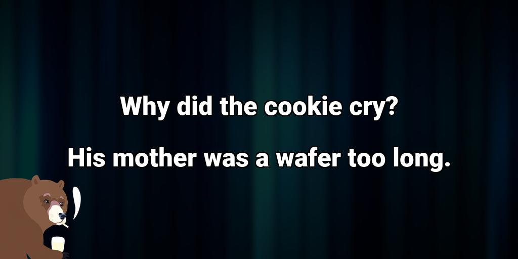 test Twitter Media - Why did the cookie cry? His mother was a wafer too long. #badjoke #badjokes https://t.co/aaMyxfSZ93