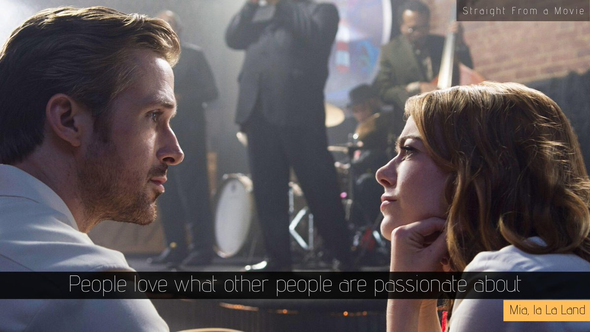 "test Twitter Media - ""People love what other people are passionate about.""  #Mia #LaLaLand  #LaLaLandMovie #LaLaLandQuotes #LaLaLandmoviequotes #moviequotes #DamienChazelle #EmmaStone #RyanGosling #quote #quoteoftheday #wordporn https://t.co/qfYWRCTc35"