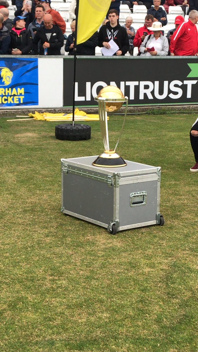 RT @AmyItv: If you're coming along to see @DurhamCricket tonight you get to see this too ⬇️ #CricketWorldCup https://t.co/wQum9LI6uD