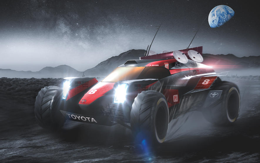 test Twitter Media - Toyota plans to build a rover for the Moon in 2029, so what chance the first Moon rover race in 2030? We'd love to see our motorsport-crazy colleagues at Toyota Gazoo Racing build a car suitable to enter the Le Moons 24 Hours in 2030! We let our imaginations run wild... https://t.co/FLsMntRymB
