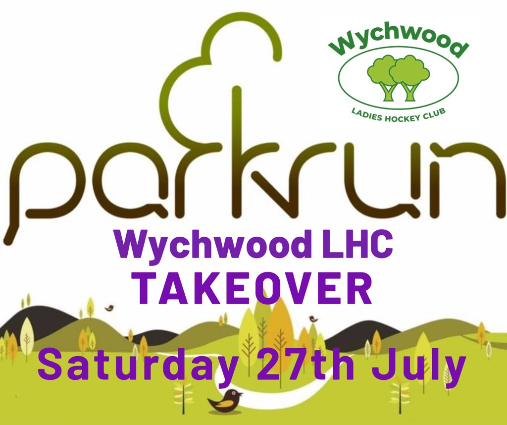 RT @wychwood_hockey: Only a week to go until our @witneyparkrun Takeover 🏃🏼‍♀️🏃🏻‍♂️  Come and join us next week and turn Parkrun purple 💜💚 Our voices are being warmed up ready for the cheering 🗣👏🏼  #hivisheros #loveparkrun #HockeyFamily #volunteer