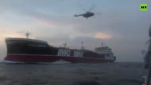 Iran's Revolutionary Guard operatives capture the UK-flagged tanker