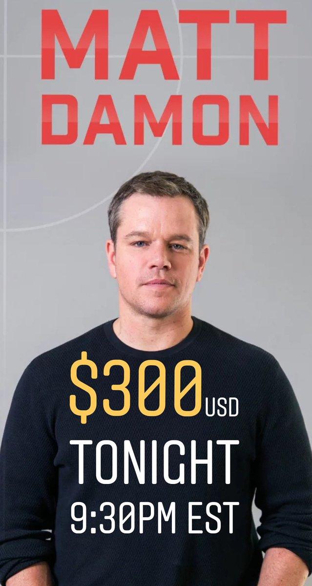 test Twitter Media - Matt Damon Trivia tonight! Have you watched Matt Damon movies? There's a $300 USD prize pool. #movie #mattdamon #movietrivia #trivia #realmoney https://t.co/ynZ9Zwuqwl