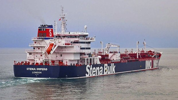 Iran says British tanker seized because of collision