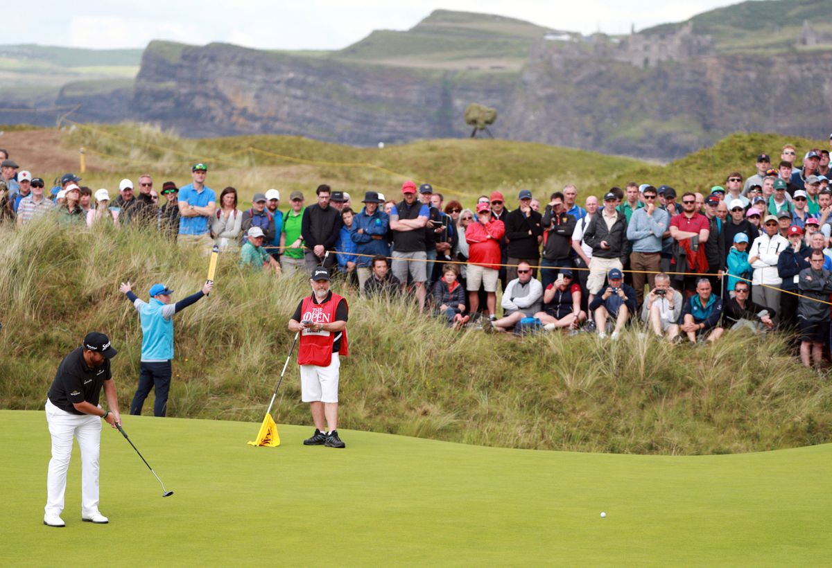 Portrush goes wild for Ireland's Lowry as final-round test awaits