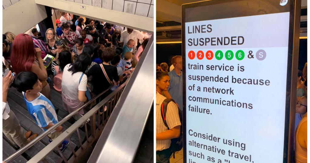Computer failure cripples several New York City subway lines
