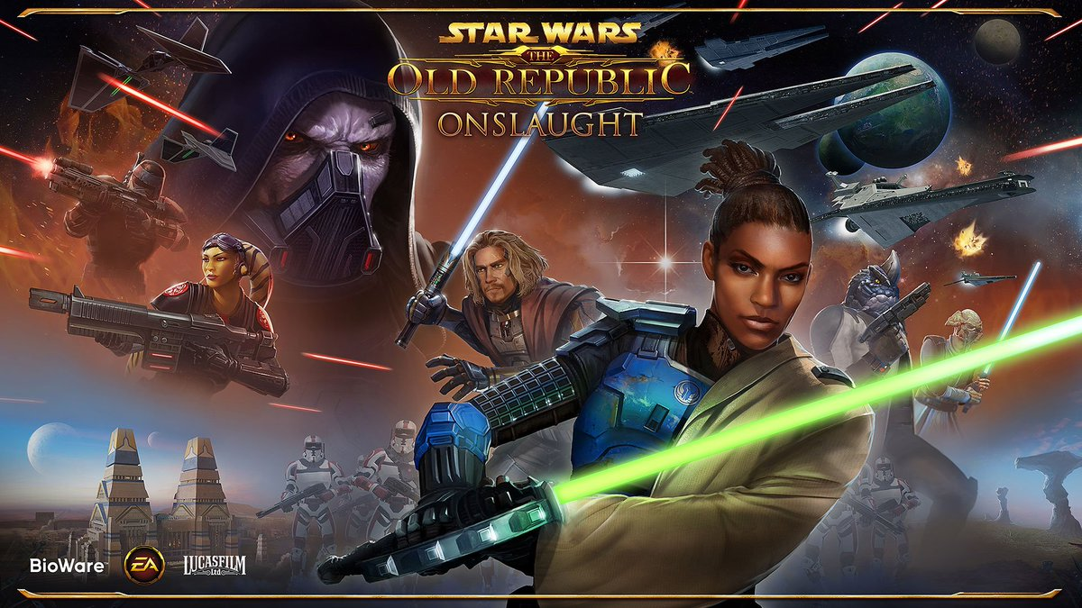 test Twitter Media - We are happy to reveal the official keyart for SWTOR: Onslaught! https://t.co/wGJjSHeTod