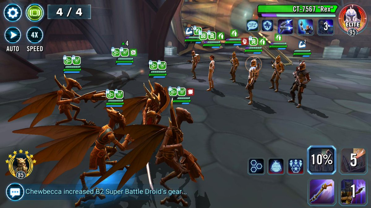 test Twitter Media - I'm doing great with my Geonosians in their Combat Mission for Phase 4, so of course I go into Wave 4 and see this.  It took 5 minutes on full auto for my team to eventually die, but that was some very painful 5 minutes. #SWGoH https://t.co/TRgRYbxon6
