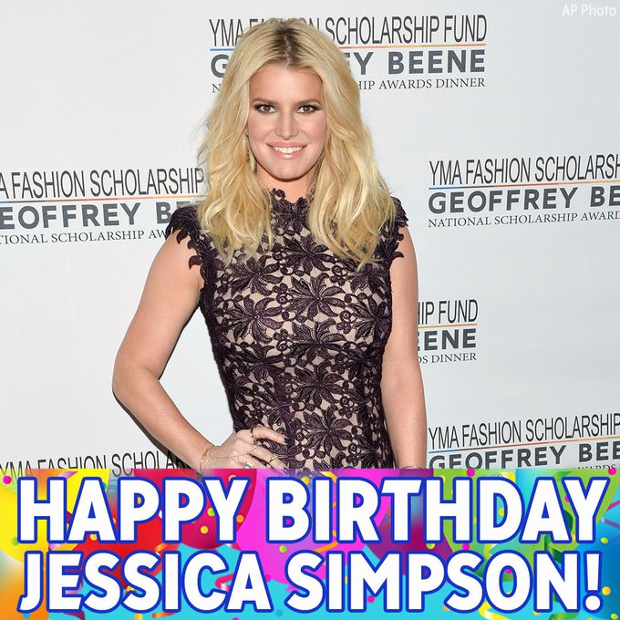 Happy birthday to singer, actress and fashion designer Jessica Simpson!