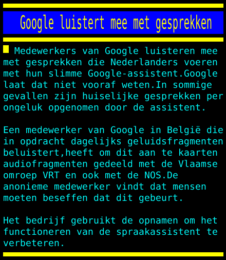 test Twitter Media - Google luistert mee met gesprekken https://t.co/kglFK3TLs7
