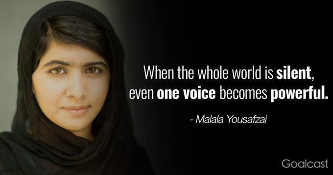 "July 12:Happy 22nd birthday to activist for female education,Malala Yousafzai (""youngest Nobel Prize laureate\"")"