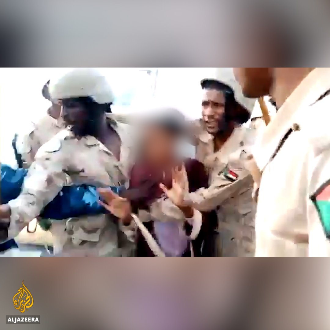 Videos of the violent military crackdown on peaceful protesters in Sudan surface on social media after a weeks-long internet shutdown ends. https://t.co/YBbuSrvlyH
