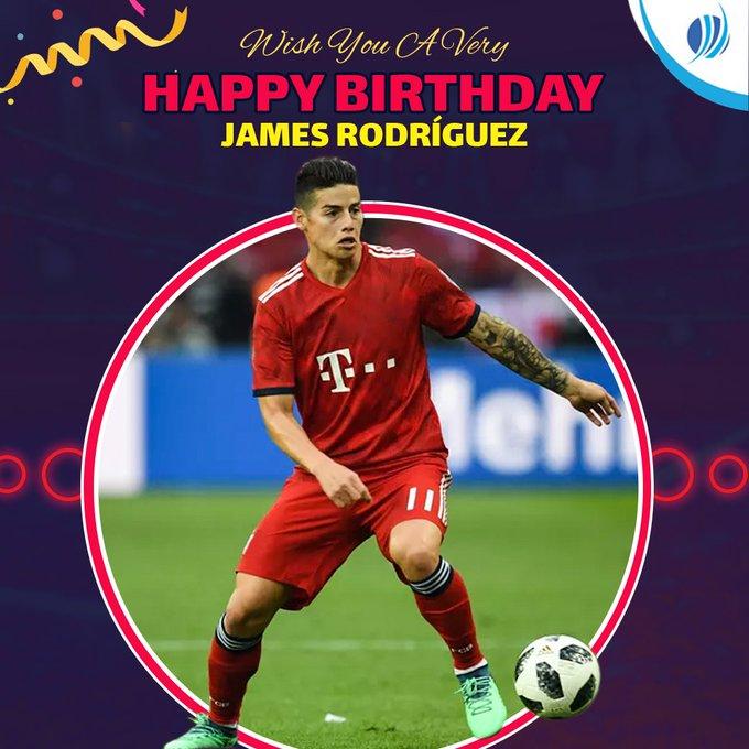 Happy birthday James Rodriguez