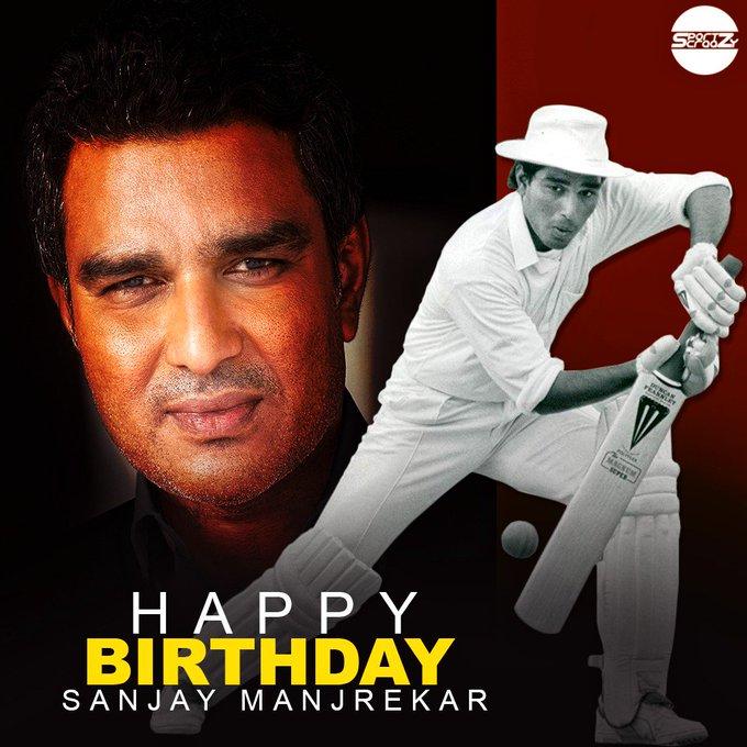 Happy birthday to Sanjay Manjrekar