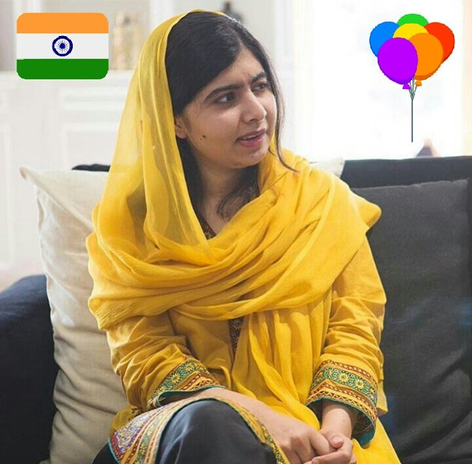 Birthday Greetings from India Happy Birthday Malala Yousafzai May Allah bless you!