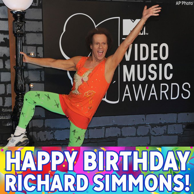 Happy Birthday to fitness icon Richard Simmons!