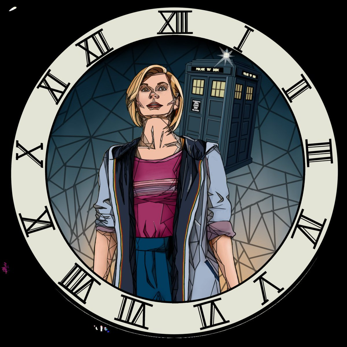 "test Twitter Media - ""The Clock Strikes Thirteen' by BTVSKate I love how this #stainedglass style turned out and this may honestly be my favourite #DoctorWho #digitalart ever! Available at: https://t.co/IbNoiEy2zd  #13thdoctor #nuwho #tardis #clock #jodiewhittaker #ArtistOnTwitter #scifi #fanart https://t.co/k1ZpY8TsPq"