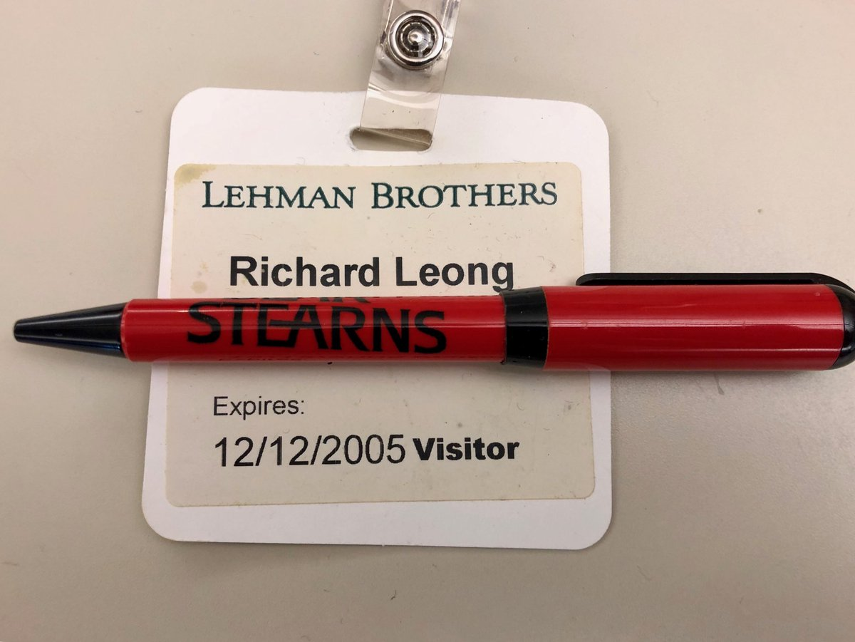 I can't believe I still have these things. #lehmanbrothers #bearstearns #beforefinancialcrisis https://t.co/EUABN06ICB