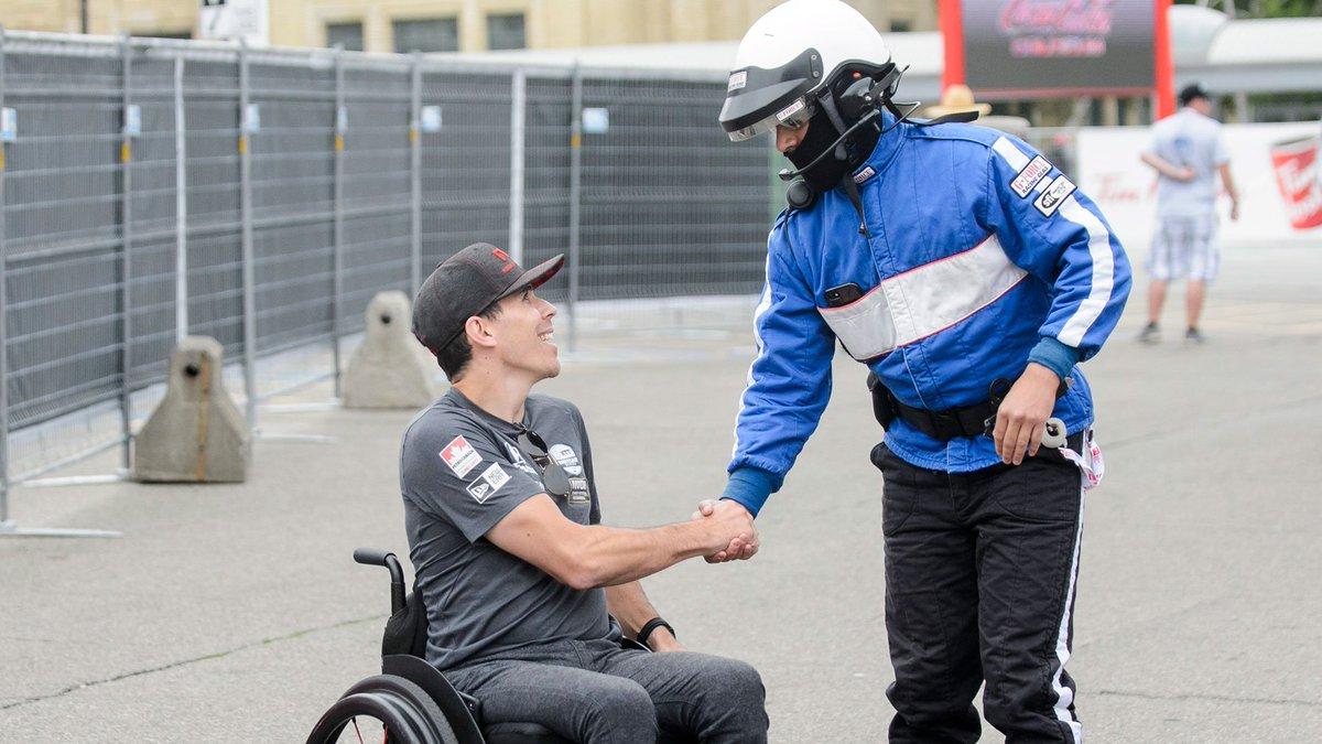 RT @CTVToronto: Robert Wickens makes emotional return at IndyCar race in Toronto https://t.co/moMCj1L8fc https://t.co/k5O9FharfA