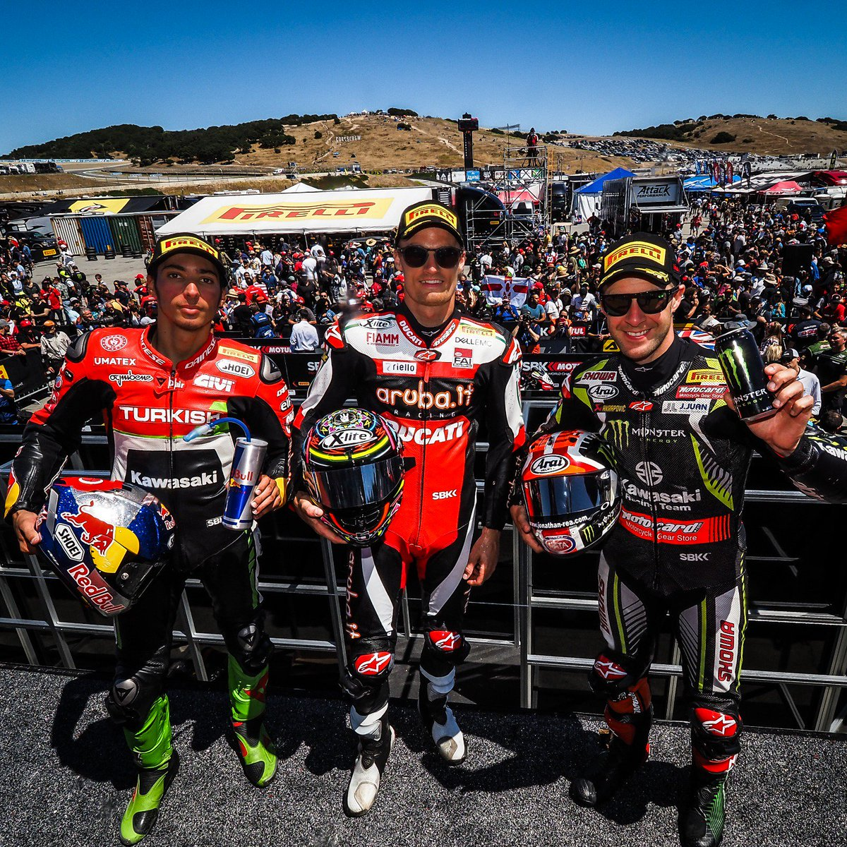 test Twitter Media - What did the top three make of intriguing Race 2 in the USA?  #USAWorldSBK 🇺🇸  📹 INTERVIEWS | #WorldSBK  https://t.co/ROnFyDeWvp https://t.co/It2Yn3nDjq