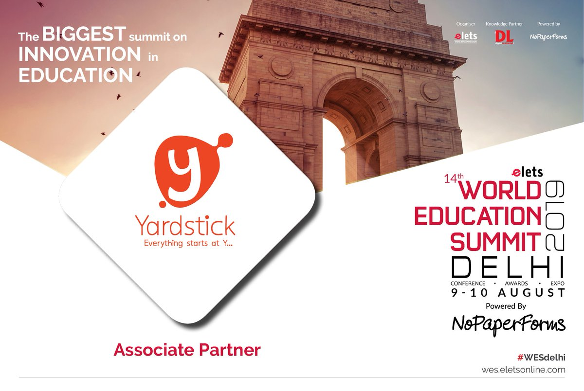 test Twitter Media - We are happy to announce that Yardstick has joined us as an Associate Partner for 14th World Education Summit Delhi 2019, to be held on 9-10 August.  For more info, visit: https://t.co/7etrZvwH73  #Wes #WesDelhi #education #schooleducation #highereducation https://t.co/VYY1ublG3h