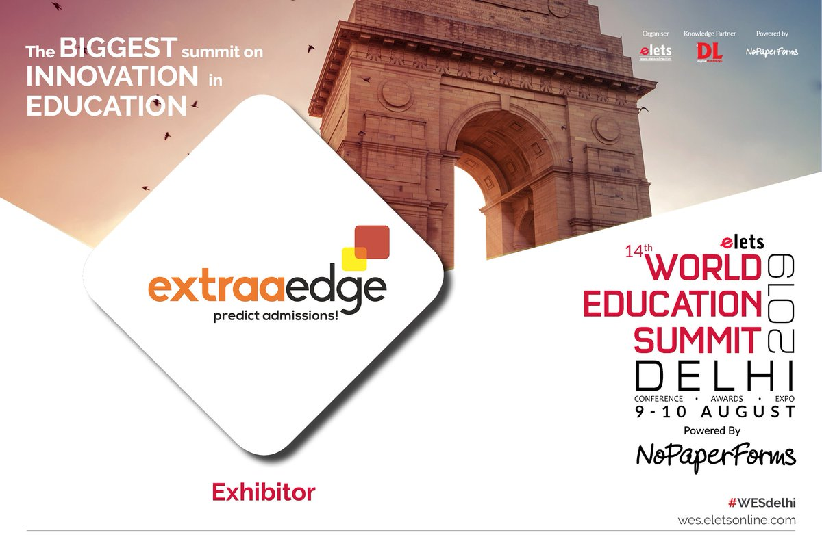 test Twitter Media - We welcome on board @ExtraAEdge as an Exhibitor for 14th World Education Summit Delhi 2019, to be held on 9-10 August.  For more info, visit: https://t.co/7etrZvwH73  #Wes #WesDelhi #education #schooleducation #highereducation https://t.co/JCXgMAV8OO