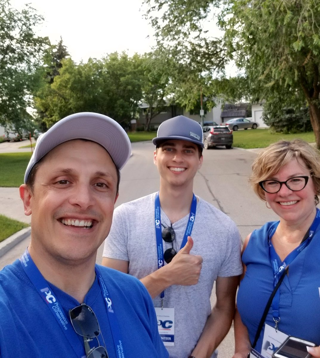 test Twitter Media - Having fun with my team after a great night at the doors in Fort Richmond.😄 There were two trophy winners tonight for most signs requested-way to go Team! #mbpoli https://t.co/UrJZLVOzRQ