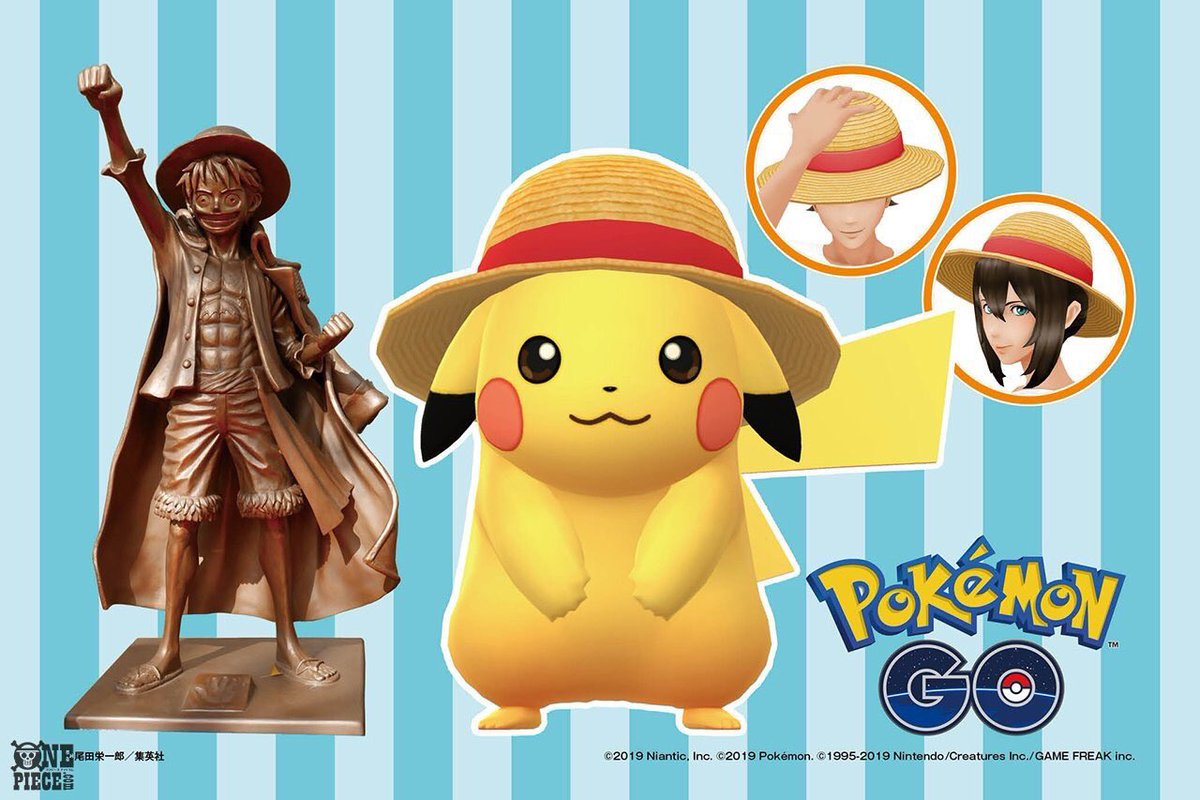 test Twitter Media - It's true—ONE PIECE is coming to #PokemonGO! Luffy's hat is at least. From July 22-29 you'll be able to encounter straw hat-wearing Pikachu and even buy a hat for your avatar as well! https://t.co/HZnrHzBBb1 https://t.co/8d1X7s2lO1