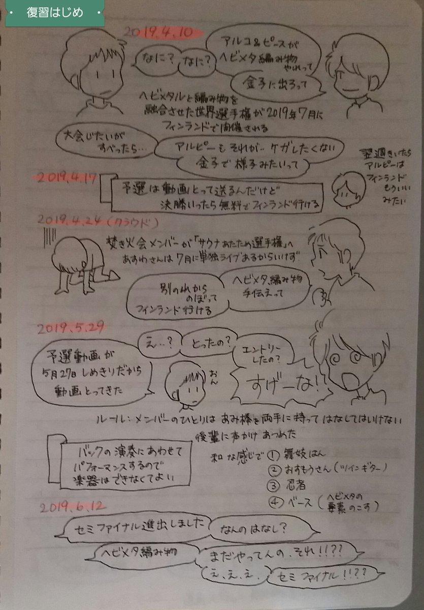 RT @nanase_hoho: 5分で分かるヘビメタ編み物への道。ラジオ内容復習 #星のギガボディ https://t.co/o8ZSZxAQPu