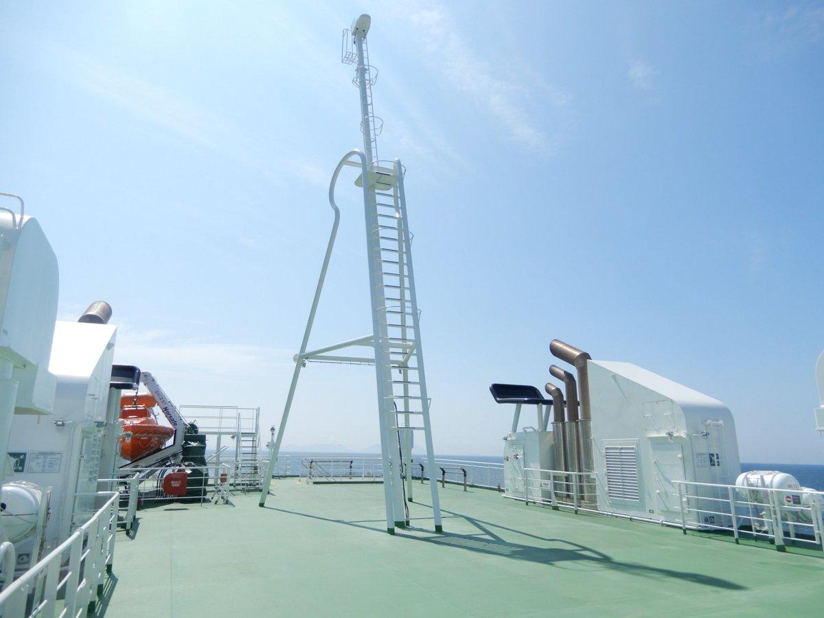 test ツイッターメディア - 九州商船いのり 外から見た際に特に目を引く各マスト、ファンネル、アンチローリングタンクです。 https://t.co/wcW0ExFD6E