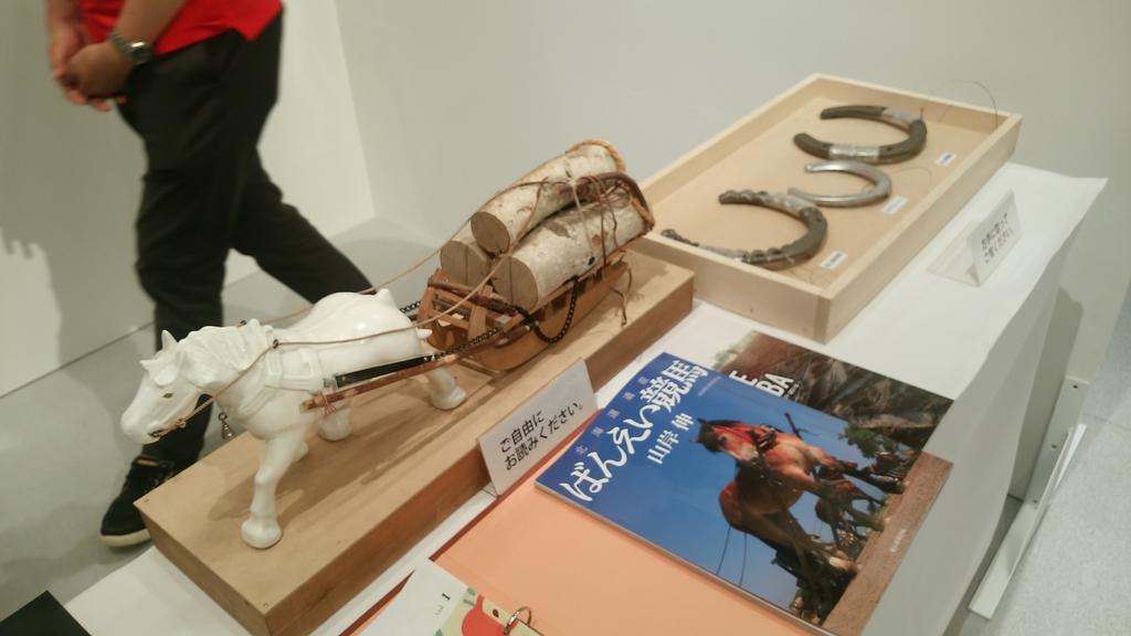 test ツイッターメディア - 驚いたのは帯広市のばんえい競馬の写真コーナー ハガレンや銀の匙の作者荒川弘先生のサインも展示されてた事。 実物の蹄鉄にも触れられたり、係の方の説明、そして写真の展示とますます興味を持ち、観に行きたくなりました!! https://t.co/gePPWntfZA
