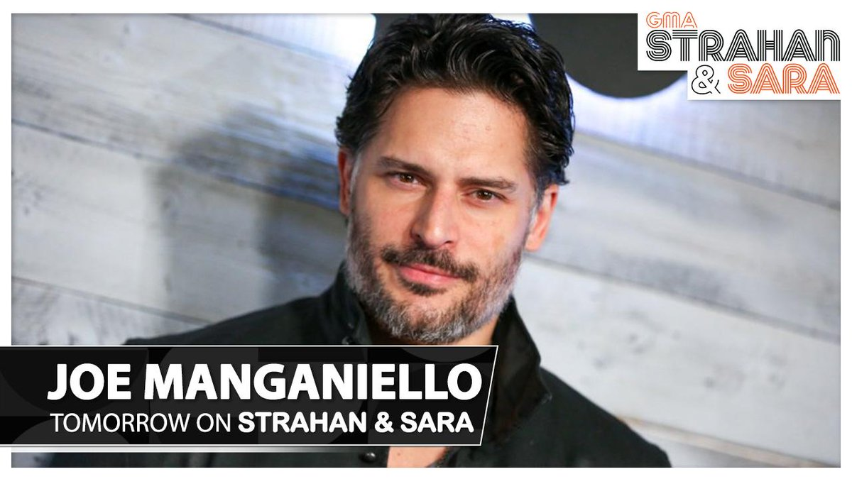 RT @StrahanAndSara: TOMORROW ON #StrahanAndSara: @JoeManganiello is hanging with us! 1pET/12pC/P. https://t.co/C4nVzcZ2VU