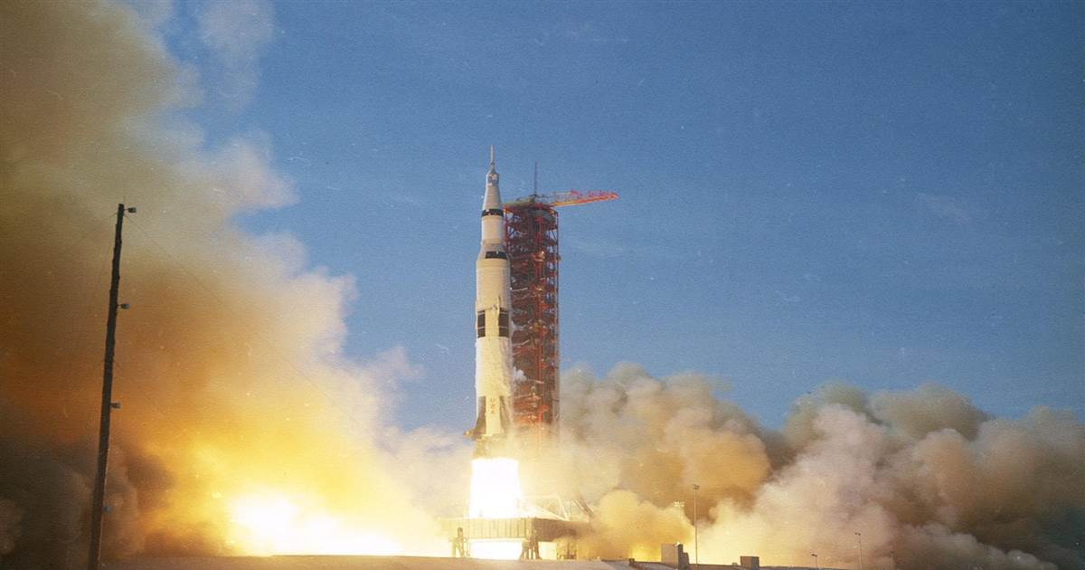 Relive the historic launch of Apollo 11