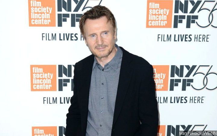 Liam Neeson All Smiles at 'Cold Pursuit' Spanish...