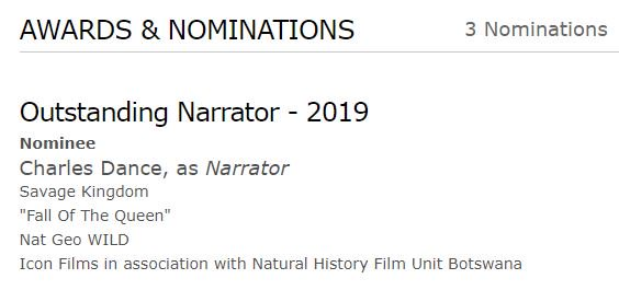 Excited to hear that my episode of Savage Kingdom Series 3 has been nominated for an Emmy for Outstanding Narration. Looking forward to edit producing on Series 4 with @iconbristol @NhfuBots @NatGeoChannel #emmynominations2019 https://t.co/Y9YJH3eP52