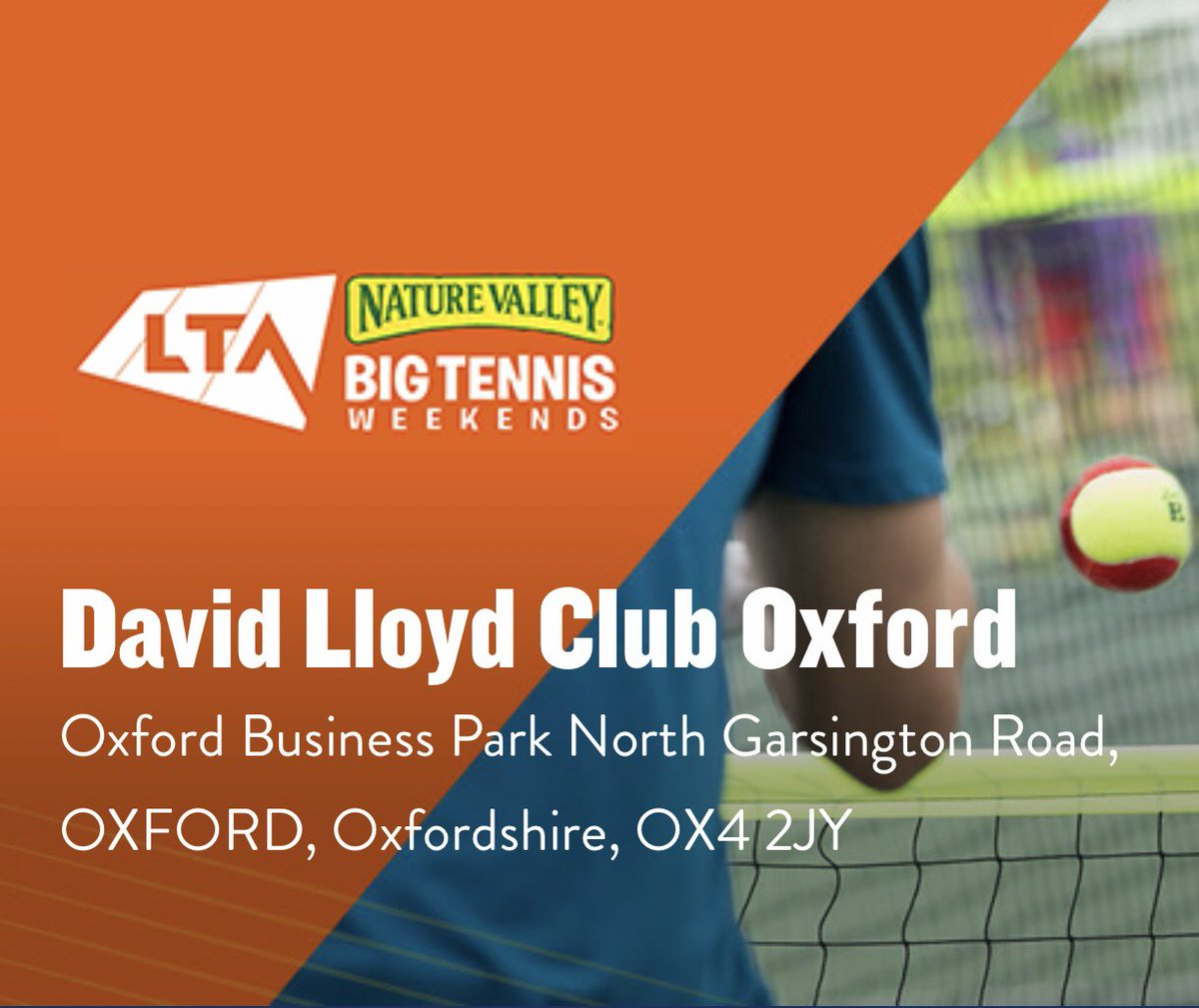 RT @TennisOxford: @DavidLloydUK Oxford are opening their doors for FREE #tennis on Saturday & Sunday 👉 https://t.co/HwyWKXnFk3 @OxTweets @TheOxfordMail @activeoxon @actsoxfordshire @ActiveWomenOxon @the_LTA @babolat